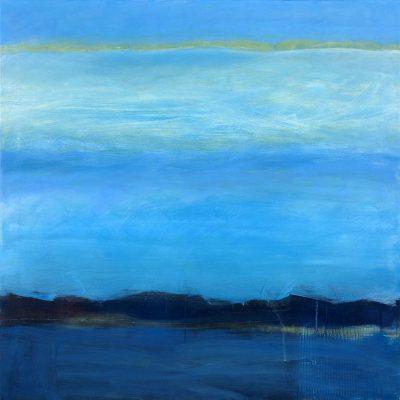 """Sibylle Meister """"gezeiten"""", 2021, Öl auf Leinwand, 80x80 cm"""