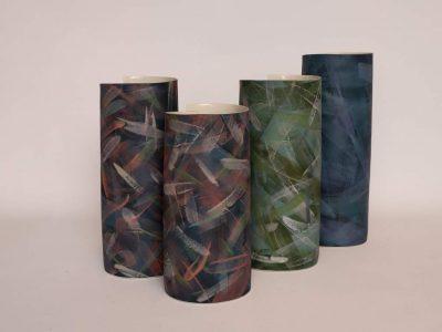 Juliane Herden, Porzellanvasen (2020) | Höhe 22,5x20 cm / 23x25,5 cm