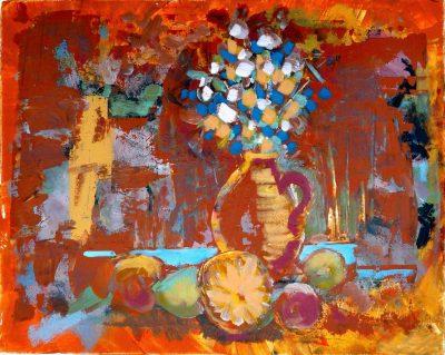 "Michael Wahl ""Jazzfarben"" (2017) | Acryl auf Leinwand | 40x50 cm"