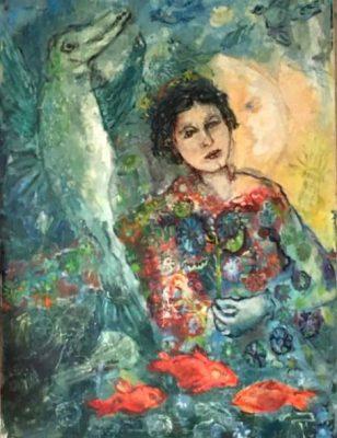 "Franziska Groszer ""Verwandlung"" (2010) | Öl auf Leinwand | 80x120 cm"
