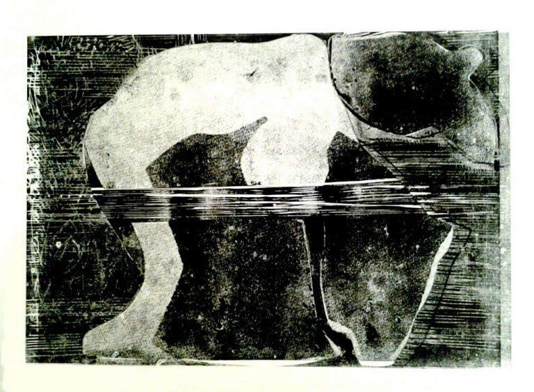 "Ulrike Koloska ""Metamorphosen I"" (2021) | Linolschnitt, Collage, Unikat | 60x80 cm"