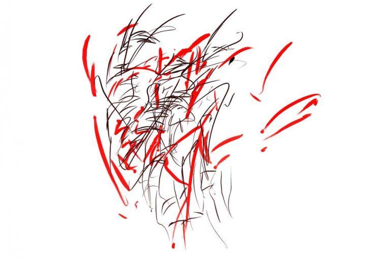 """Ingrid Bertel """"Klang zur Ode an die Freude"""" (2020), 29x21 cm"""