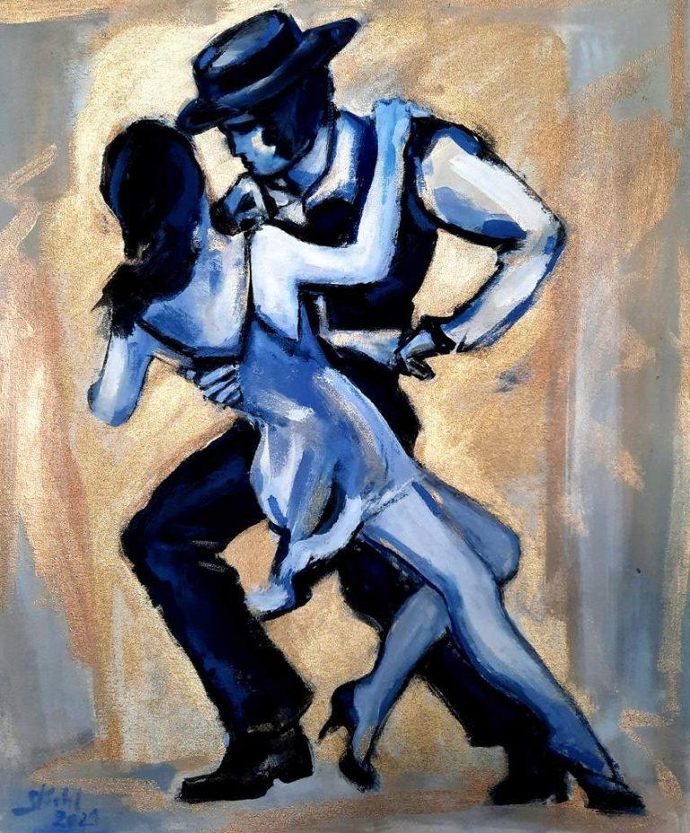 "Stella Krehl ""Am Monbijou"" (2021) | Acryl, Öl auf Leinwand | 60x70 cm"