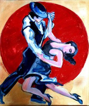 "Stella Krehl ""Tango Argentino"" (2021) | Acryl auf Leinwand | 60x70 cm"