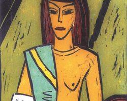 PETER RENSCH-Frau im Sari-Ausschnitt-TITEL